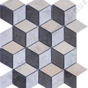 MMV37 mosaïque savana gris 27 x 24 cm