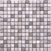 MM2004 Mosaïque travertin noce - travertin clair sans liquide