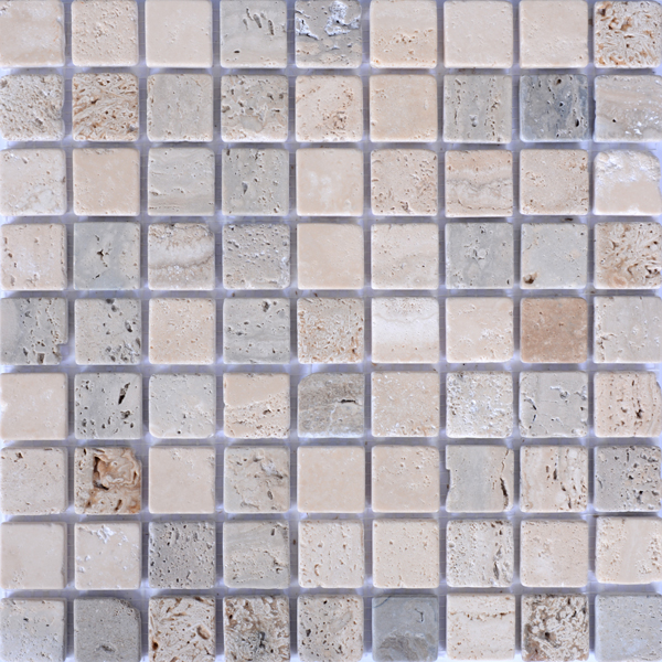 MM3002 mosaïque travertin noce - travetin clair sans liquide