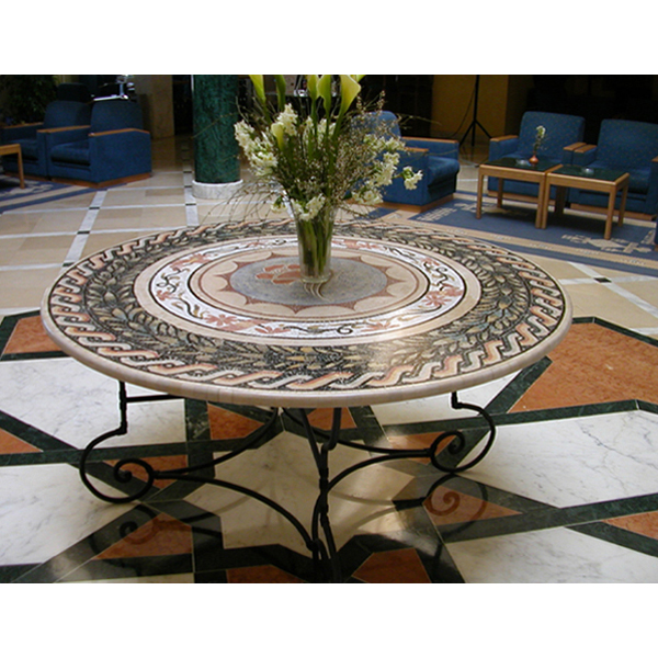 table ronde en mosa que de marbre art de mosa que adm el jem tunisie. Black Bedroom Furniture Sets. Home Design Ideas
