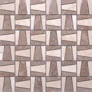 MMV73 mosaïque pyramide travertin