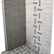 Douche a l'italienne en mosaïque de marbre tunisien