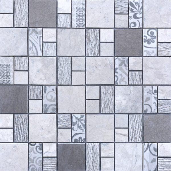 MMC06 Mosaïque qaudro gris TSG
