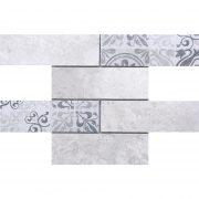 MMC13 Mosaïque listel thala gris TSG
