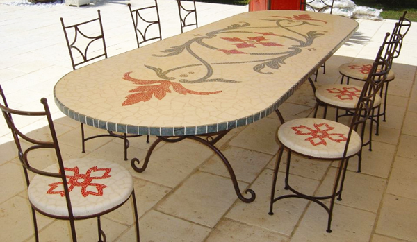 mosa que romaine les tables art de mosaique tunisie. Black Bedroom Furniture Sets. Home Design Ideas